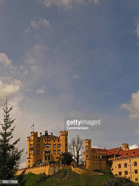 The castle Hohenschwangau is seen on September 24 2008 in Hohenschwangau Ostallgaeu Germany The castle was a residence of King Ludwig II