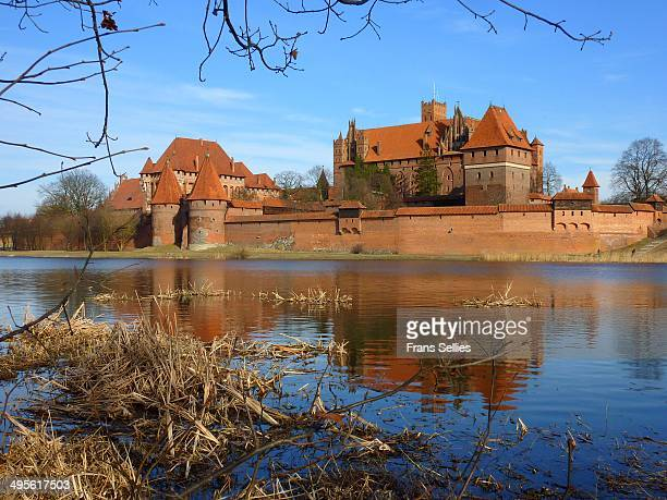 The Castle in Malbork is the largest castle in the world by surface area, and the largest brick building in Europe.