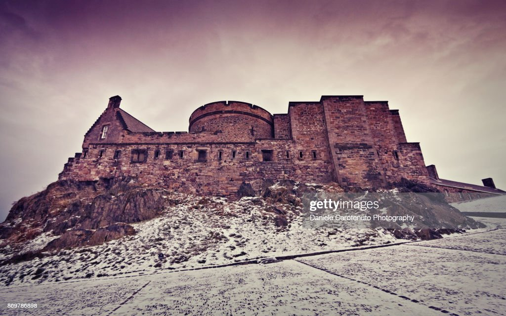The castle in the snow : Stock Photo