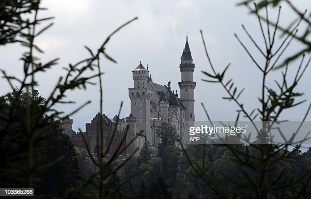 The castle Neuschwanstein near Fuessen in the Allgaeuer Alps mountains southern Germany can be seen on August 10 2010 Castle Neuschwanstein is a...