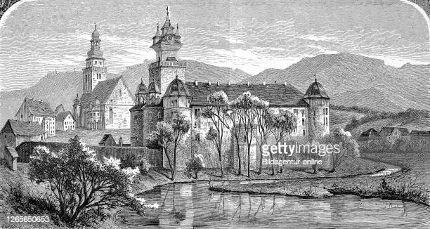 The castle of Neuenstein, Baden Württemberg, Germany / Schloß Neuenstein, Hohenlohekreis, Baden Württemberg, Deutschland, Historisch, digital...