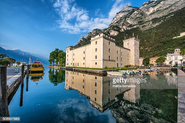The castle of Rocca in downtown of Riva del Garda, Lake Garda, Italy.