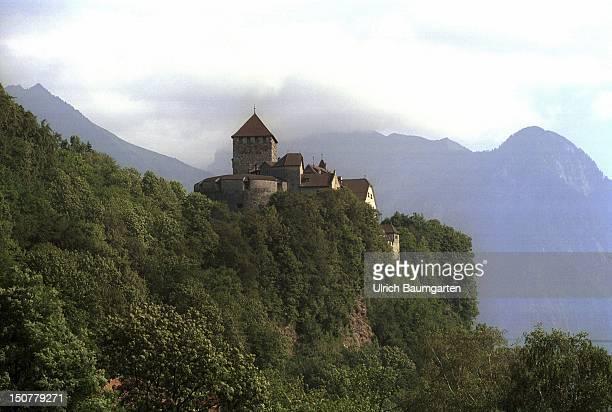 The castle of the Prince of Liechtenstein in the capital Vaduz.