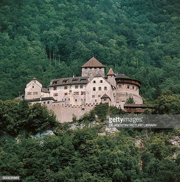 The castle of Vaduz, 12th-20th century, official residence of the Princes of Liechtenstein, Liechtenstein.