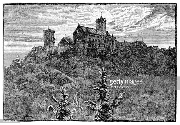 The Castle of Wartburg 1900 Wartburg Castle overlooks the town of Eisenach in Thuringia Germany Illustration from The life and times of Queen...