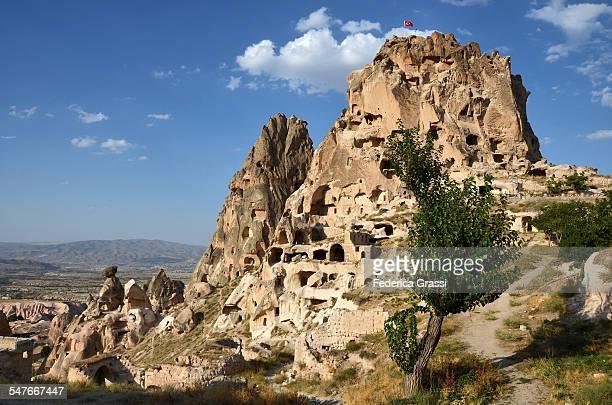 The Castle, rock formation at Uchisar, Cappadocia