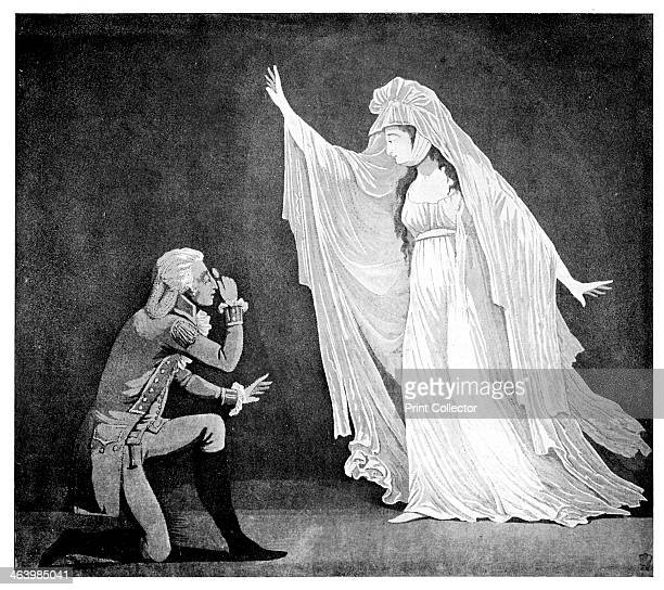 'The Castle Spectre and her ernest admirer' 1793 Scene from The Castle Spectre by Matthew Gregory Lewis Illustration from Social Caricature in the...