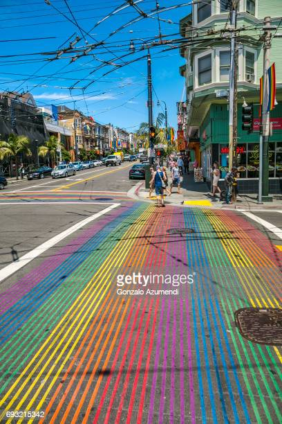 the castro district at san francisco - castro district stock pictures, royalty-free photos & images