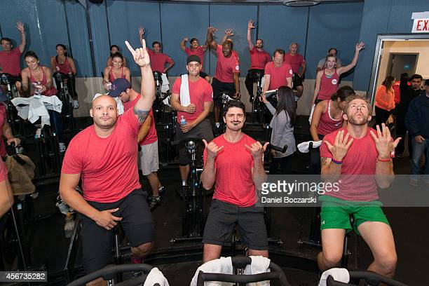 The casts of Chicago Fire and Chicago PD participate in a Flywheel Sports ride to benefit the 100 Club of Chicago at Flywheel Sports on October 5...