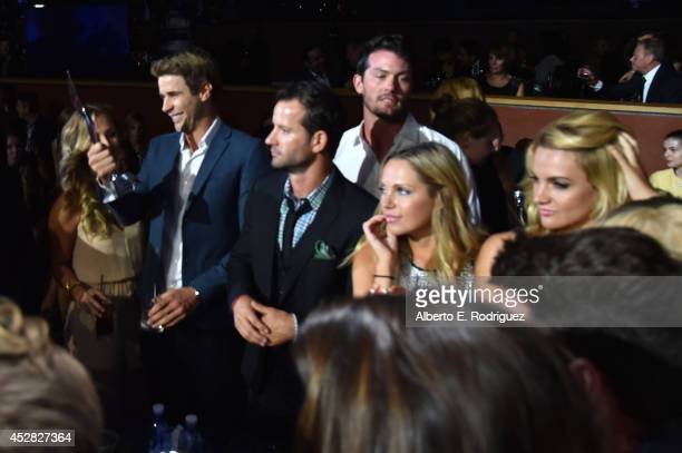 The casts of 'The Bachelor' and 'The Bachelorette' with The Reality Royalty Award at the 2014 Young Hollywood Awards brought to you by Samsung Galaxy...