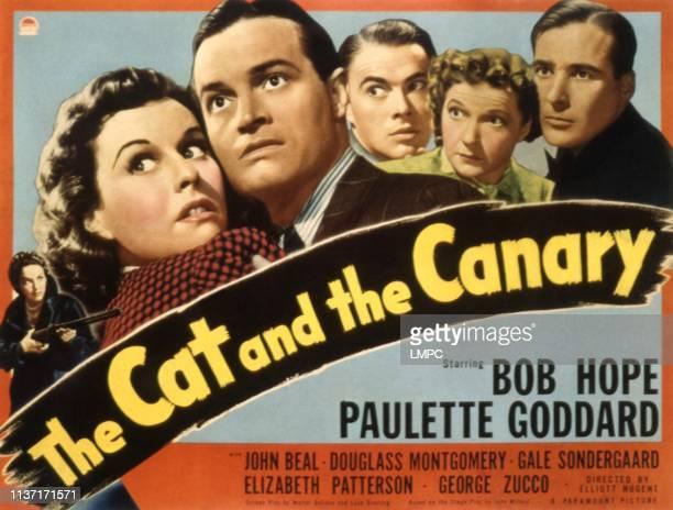 The Cat And The Canary poster Gale Sondergaard Paulette Goddard Bob Hope John Beal Una Merkel Douglass Montgomery 1939