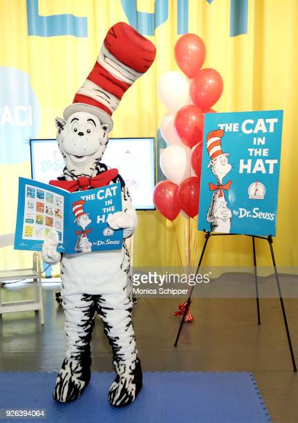 The Cat In The Hat attends Read Across America Day Celebrates Dr Seuss' Birthday at Intrepid SeaAirSpace Museum on March 2 2018 in New York City