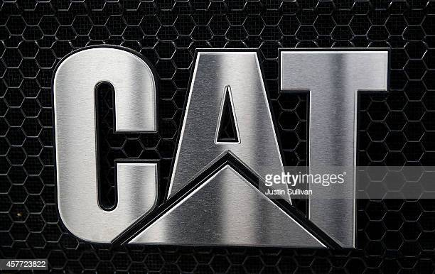 The CAT logo is displayed on Caterpillar truck at Peterson Tractor on October 23 2014 in San Leandro California Caterpillar Inc reported strong third...