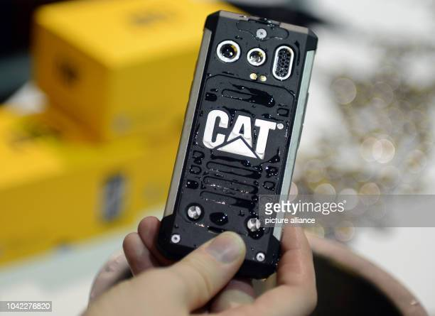 The Cat Phone is shown during the event 'Unveiled' at Consumer Electronics Show CES in Las Vegas USA 05 January 2014 The fair officially runs from 07...