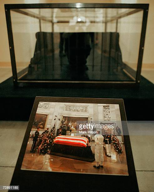 The Catafalque that was used to support the casket of President Abraham Lincoln and also President Ronald Reagan among others is stored in a tomb...