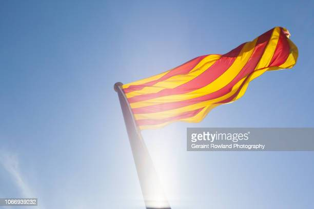The Catalan Flag Flying in Barcelona