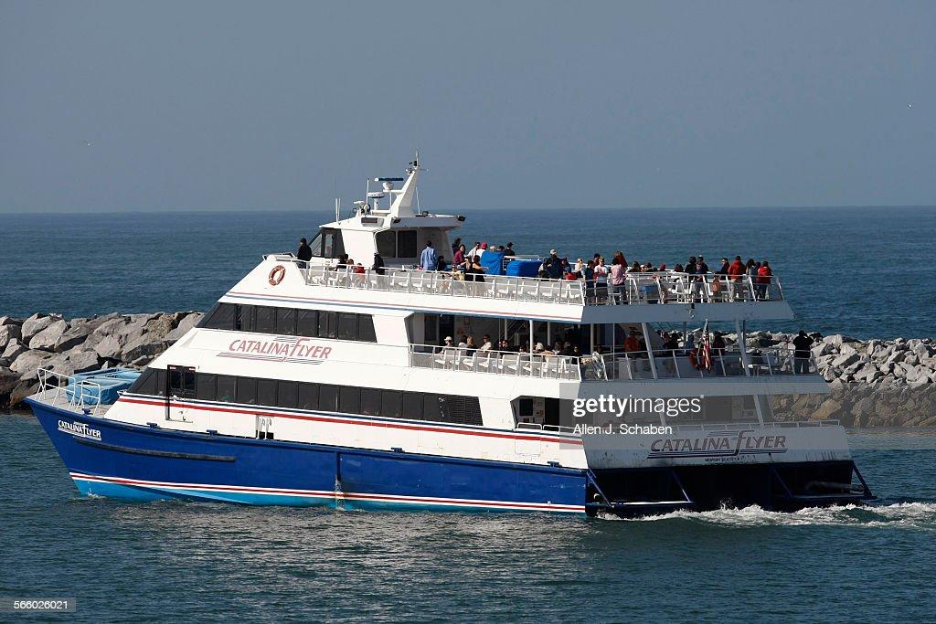 The Catalina Flyer Catamaran Cruises Out Of Newport Harbor For - Catalina cruises