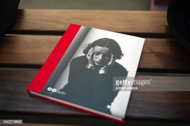 The catalogue for the exhibition 'Lore Krueger A Suitcase Full of Pictures' sits on a bench at the Amerika Haus of C/OBerlin in BerlinGermany 22...