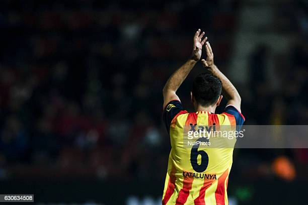 The Catalonia player Xavi Hernandez of AlSaad during the friendly football match between the selections of Catalonia vs Tunisia atthe stadium...
