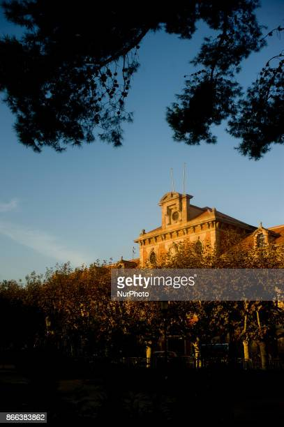 The Catalonian Parliament building is seen in La Ciutadella Park of Barcelona Spain on 25 October 2017 Spanish government aims to apply constitution...
