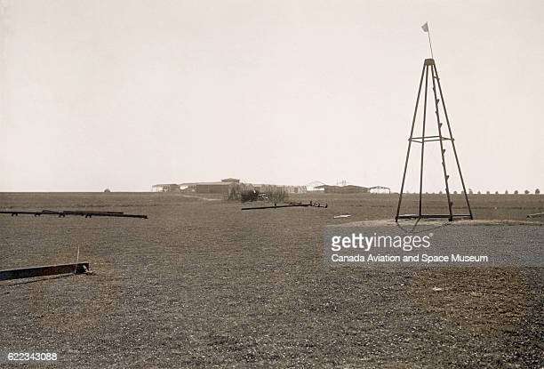 The catapult used for the Wright Brothers' Wright Flyer was one of the items on display at a 1909 airshow held on the airfield near Reims France It...