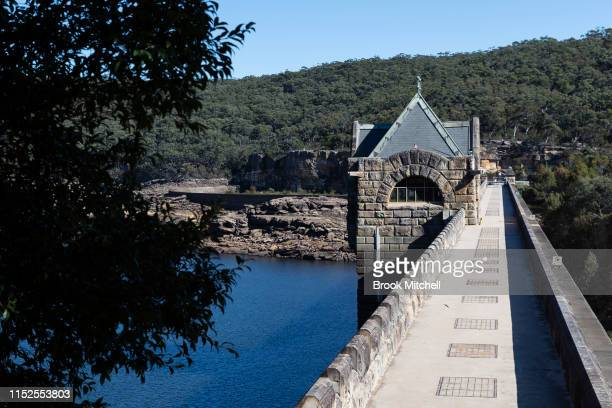 The Cataract Dam the oldest dam in Sydney's water supply system and currently sitting at just 29% of capacity on May 30 2019 in Sydney Australia The...