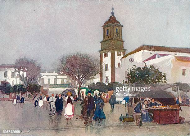 The Cathedral Church Algeciras circa 1910 From The Studio Volume 54 [London Offices of the Studio London 191112] Artist Alfred Edward East