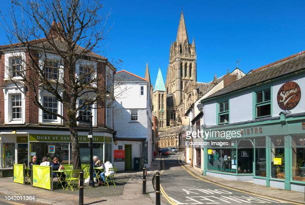 The cathedral city of truro in Cornwall, England, Britain, uk.