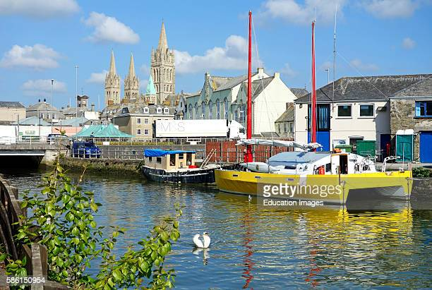 The Cathedral City Of Truro In Cornwall, England, Uk.