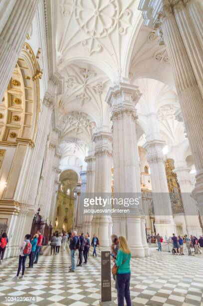 the cathedral in granada, spain - granada province stock pictures, royalty-free photos & images