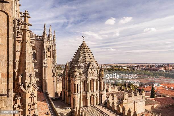 the cathedral in salamanca, spain. - salamanca imagens e fotografias de stock