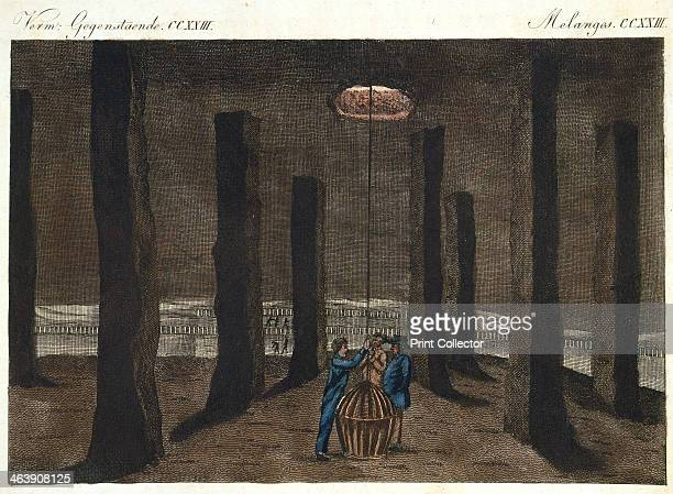 The Cathedral Marston Salt Mine Northwich Cheshire England showing the pillars of salt that have been left to support the ceiling of the cavern which...