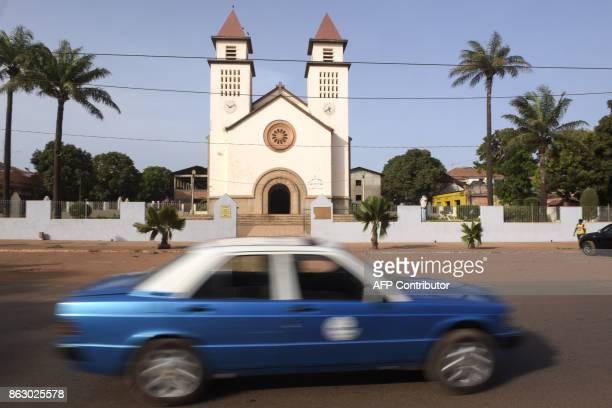 The Cathedral of Bissau is pictured on May 9 in Bissau / AFP PHOTO / SEYLLOU