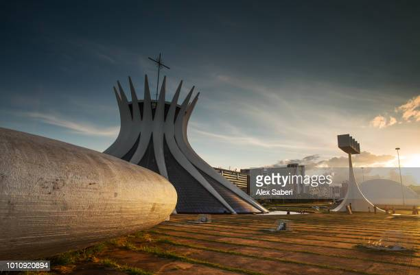 The Cathedral of Brasilia at sunset The Cathedral of Brasilia