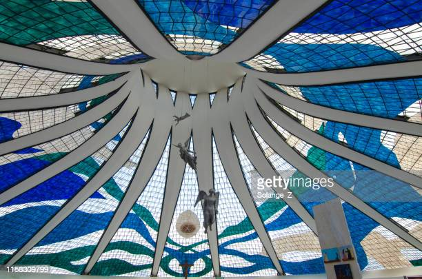 katedralen i brasília tak - brasilia bildbanksfoton och bilder