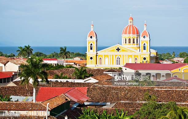 the cathedral of granada and the colonial city - managua stock pictures, royalty-free photos & images