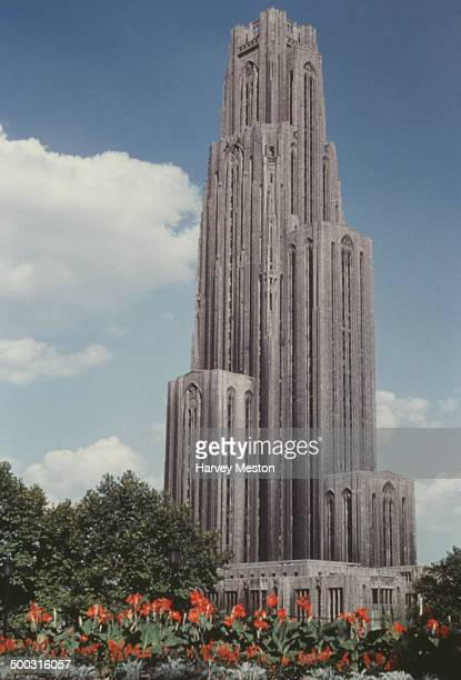 The Cathedral of Learning at the University of Pittsburgh Pennsylvania USA circa 1960