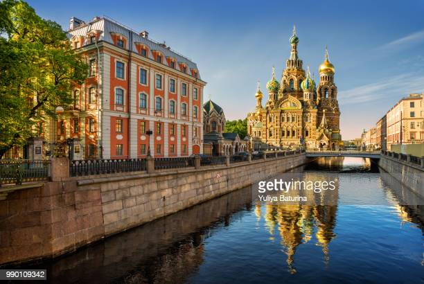 the cathedral of our savior on spilled blood - st. petersburg russia stock pictures, royalty-free photos & images