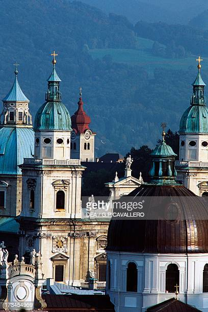 The Cathedral of Romanesque origins rebuilt from 1614 to 1628 by Vincenzo Scamozzi and by Santino Solari Salzburg Austria