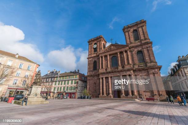 the cathedral of saint christopher of belfort, belfort cathedral - ベルフォール ストックフォトと画像