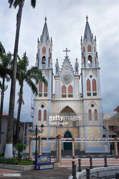 The Cathedral of Saint Isabela stands in central Malabo on August 22 2018 in Malabo Equatorial Guinea Its construction began in 1897 under the...