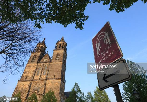 The Cathedral of Saints Catherine and Maurice is pictured on the Romanesque Road in Magdeburg Germany 05 May 2013 The 1200kilometerslong holiday road...
