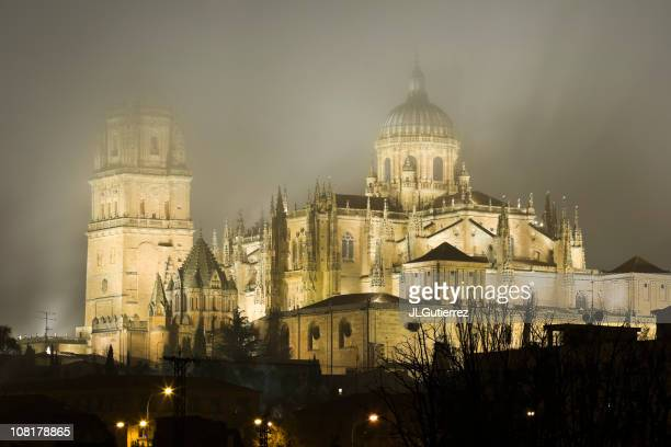 The Cathedral of Salamanca in Fog