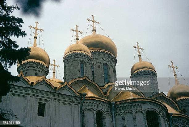The Cathedral of the Annunciation a Russian Orthodox church in Cathedral Square in the Kremlin Moscow Russia 1973