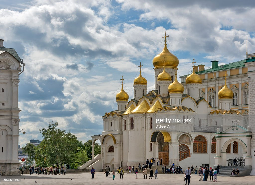 The Cathedral of the Annunciation in Moscow : Stock Photo
