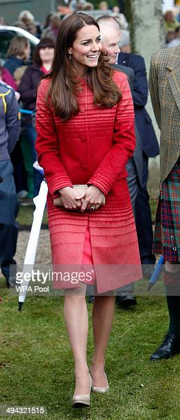 The Catherine Duchess of Cambridge attends Forteviot fete on May 29 2014 in Forteviot Scotland The Duke and Duchess of Cambridge will spend the day...