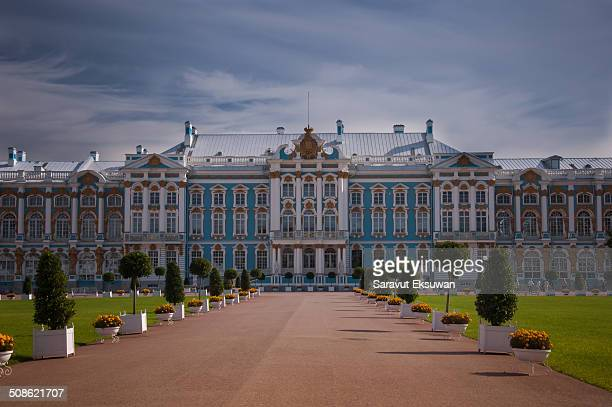 The Catherine Palace was the summer residence of the Russian tsars The palace is a Rococo style palace existed in the town of Tsarskoye Selo 25 km...