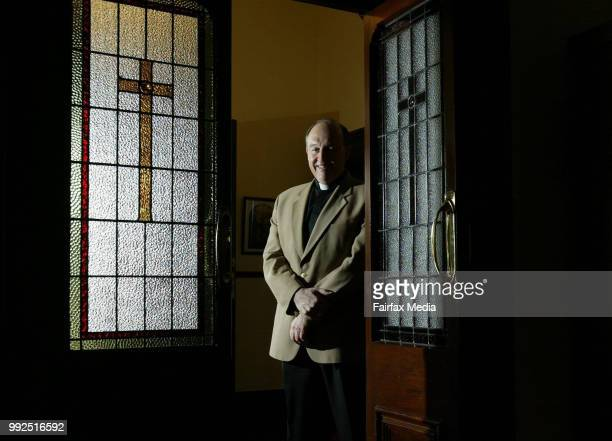 The Catholic Archbishop of Adelaide Philip Wilson poses on September 24 2003 in Adelaide Australia Photo by Bryan Charlton/Fairfax Media