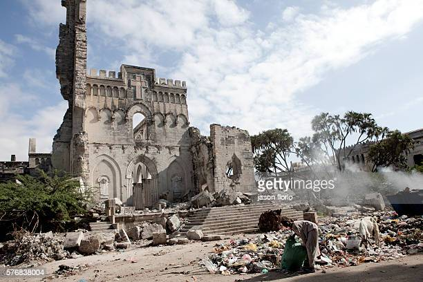 The Catholic cathedral in Mogadishu which was destroyed in 2008 by Islamic fundamentalists