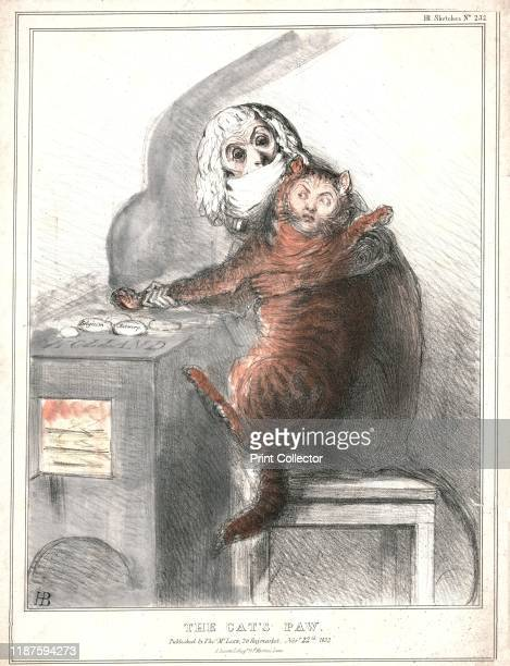 The Cat's Paw' 1832 Charles Maurice de TalleyrandPerigord French ambassador to the United Kingdom grapples with British prime minister Lord...